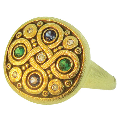 Alex Sepkus Celtic Spring Dome Ring - R-161SB