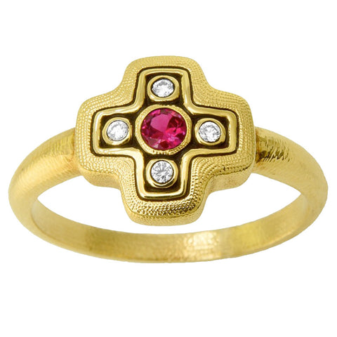 Alex Sepkus Little Cross Dome Ring - R-162RB