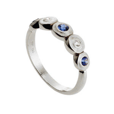 Alex Sepkus Lilly Pad Diamond and Sapphire Ring - R-210PS