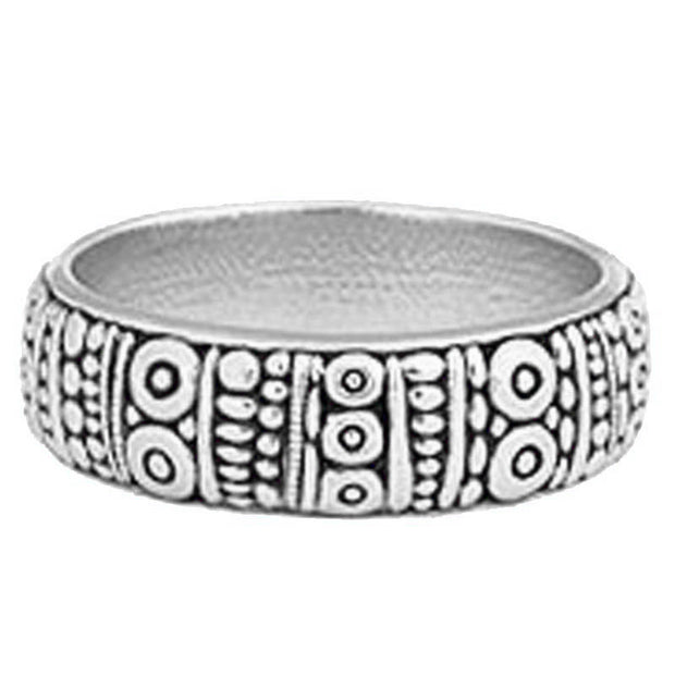 Alex Sepkus Platinum Carved Band - R-22PM