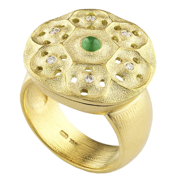 Alex Sepkus Cabachon Stone Rose Window Ring - R-231CAB
