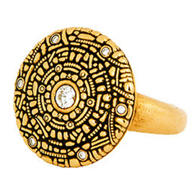 Alex Sepkus Large Shield Ring - R-4A