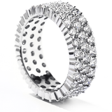 Hearts On Fire Triple-Row Eternity Band Right Hand Diamond Ring