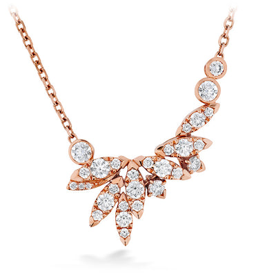Hearts On Fire White Kites Feathers Diamond Necklace
