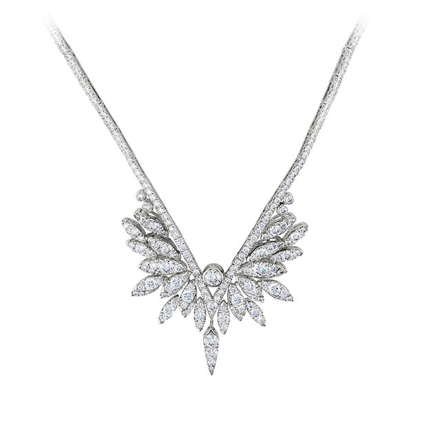 Hearts On Fire White Kites Crest Drop Diamond Necklace