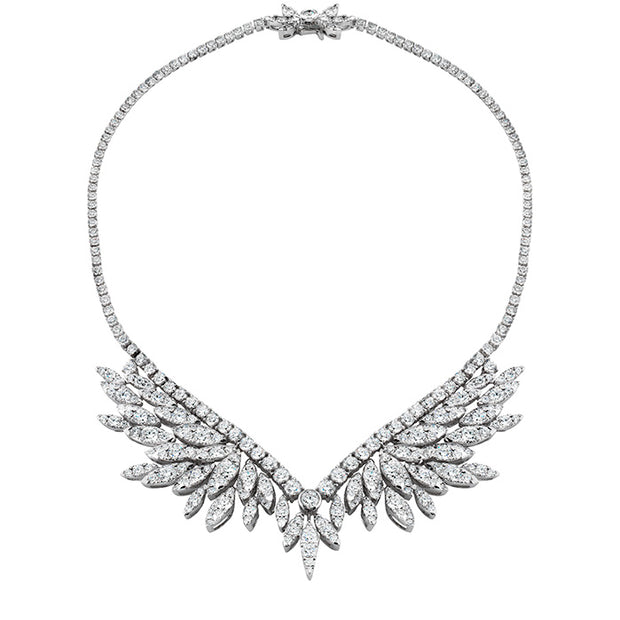 Hearts On Fire White Kites Crest Diamond Necklace