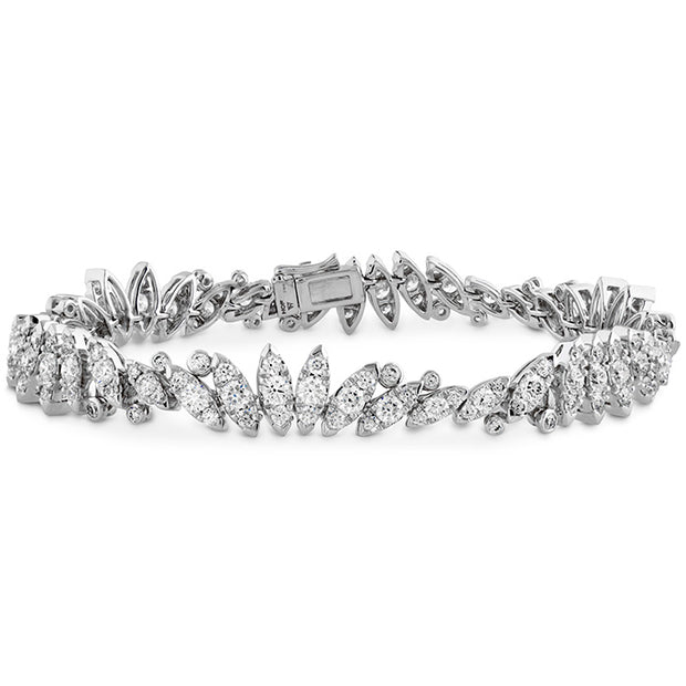 Hearts On Fire White Kites Feathers Line Diamond Bracelet