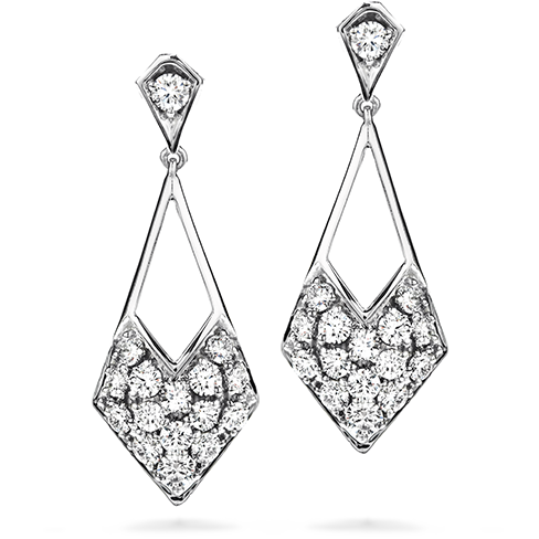 Hearts On Fire Silk Pave Diamond Shape Drop Earrings