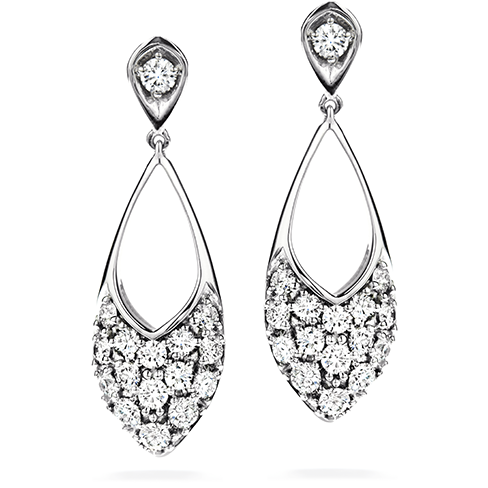 Hearts On Fire Silk Pave Marquee Diamond Drop Earrings