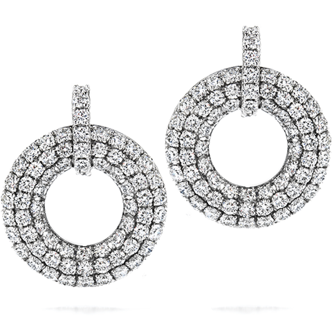 Hearts On Fire Silk Pave Open Circle Diamond Earrings