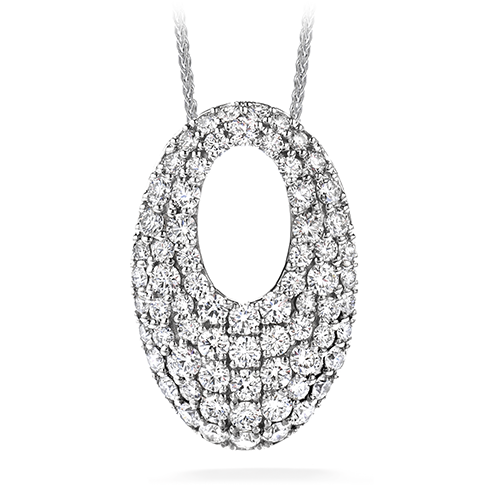 Hearts On Fire Silk Pave Oval Pendant Necklace