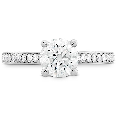 Hearts On Fire Simply Bridal Engagement Ring with Diamond Band