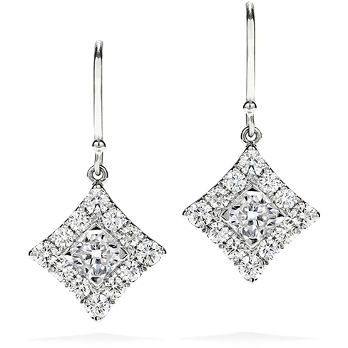 Hearts On Fire Sweet Dream Halo Diamond Earrings
