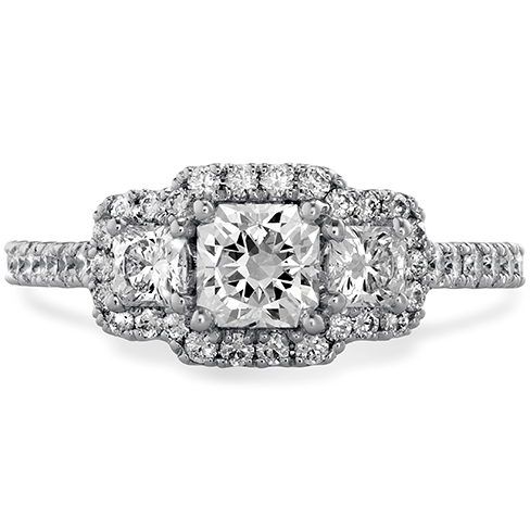 Hearts On Fire Transcend Three-Stone Dream Engagement Ring