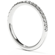 Hearts On Fire Transcend Double Halo Wedding Band
