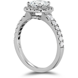 Hearts On Fire Transcend Premier Dream Halo Diamond Engagement Ring