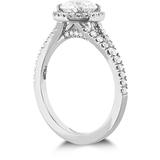 Hearts On Fire Transcend Premier Halo Split Shank Diamond Engagement Ring
