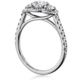 Hearts On Fire Transcend Three Stone Engagement Ring