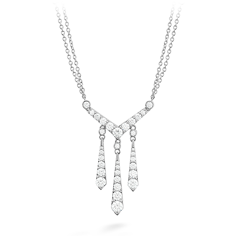 Hearts On Fire Triplicity Drop Diamond Necklace