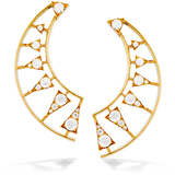 Hearts On Fire Triplicity Golden Earrings