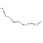 Hearts On Fire Triplicity Pointed Line Diamond Necklace