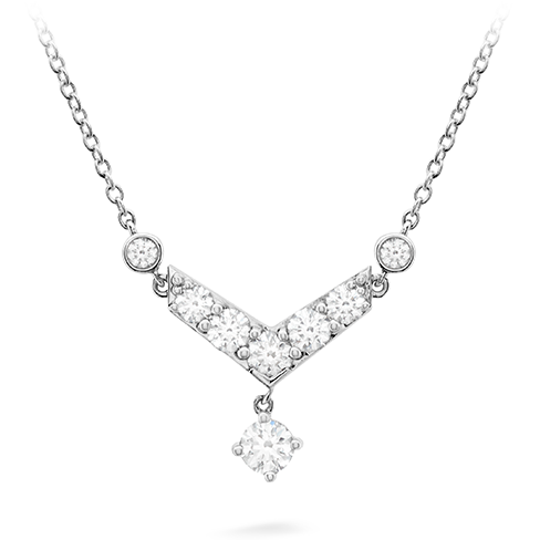 Hearts On Fire Triplicity Pointed Diamond Necklace