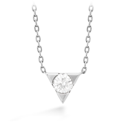 Hearts On Fire Triplicity Single Diamond Necklace
