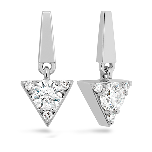 Hearts On Fire Triplicity Triangle Diamond Drop Earrings