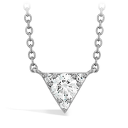 Hearts On Fire Triplicity Triangle Pendant Necklace