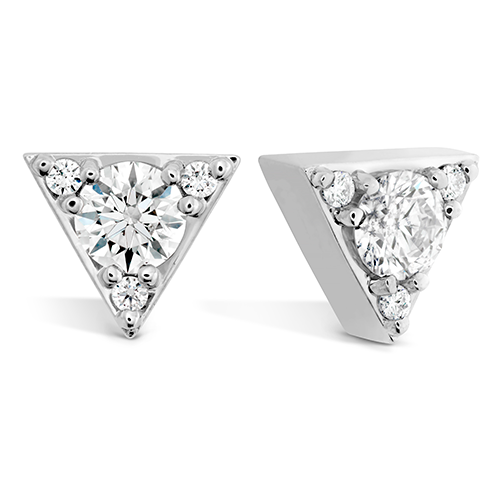 Hearts On Fire Triplicity Triangle Stud Earrings