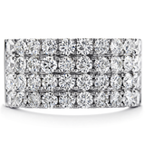 Hearts On Fire Truly Classic Four-Row Right Hand Diamond Ring