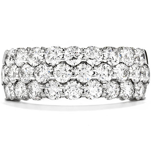 Hearts On Fire Truly Triple Row Right Hand Diamond Ring