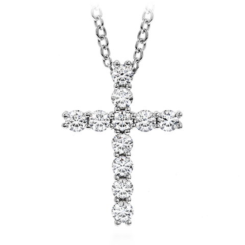 Hearts On Fire Whimsical Cross Pendant Necklace