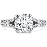 Hearts On Fire Wondrous Split Shank Diamond Engagement Ring