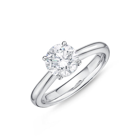 Passion Collection Solitaire Diamond White Gold Ring