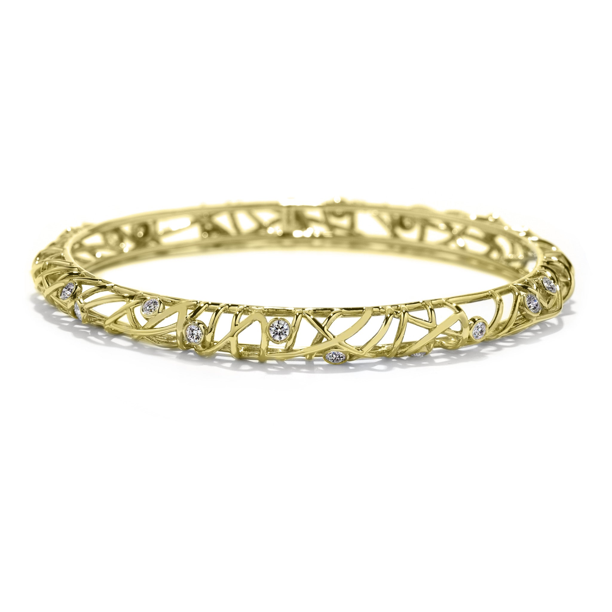 Hearts On Fire Brocade Diamond Bangle