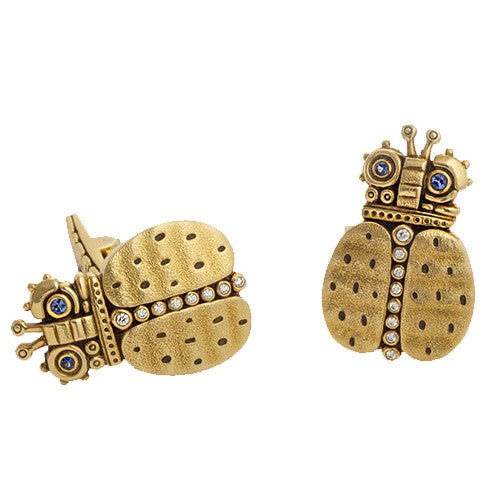 Alex Sepkus Skeptical Beetle Cufflinks - C-25