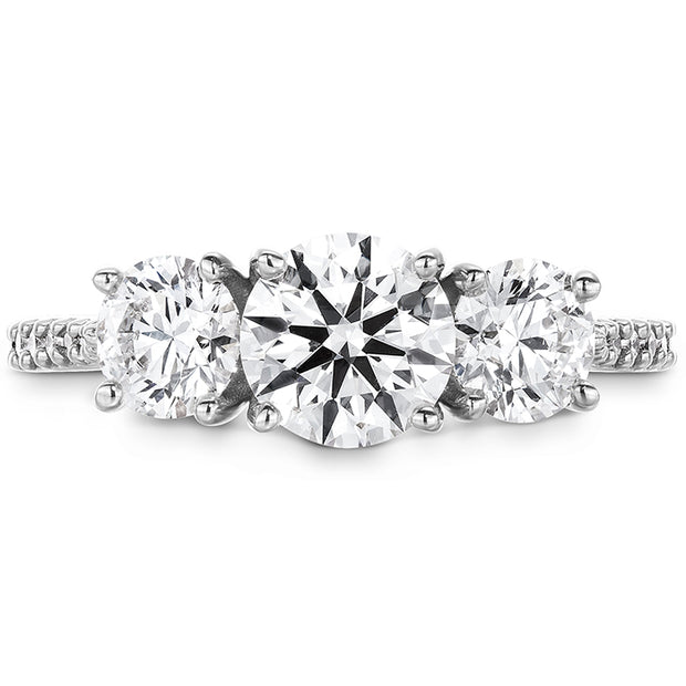 Hearts On Fire Camilla Three Stone Diamond Engagement Ring