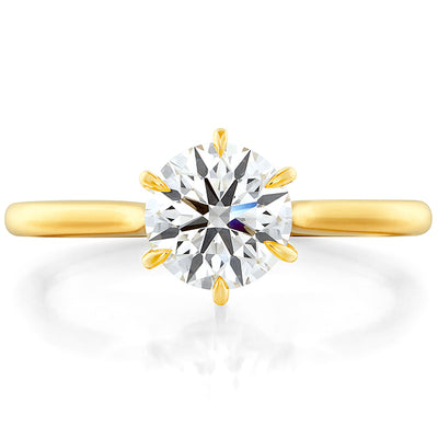 Hearts On Fire Camilla 6 Prong Diamond Engagement Ring
