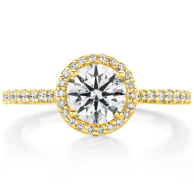 Hearts On Fire Camilla Halo Diamond Engagement Ring