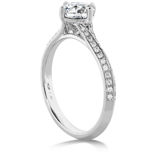 Hearts On Camilla Pave Knife Edge Engagement Ring