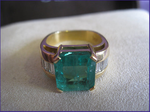 Estate Jean-Francois Albert Emerald & Diamond Ring