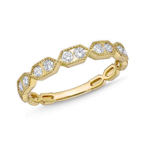 Passion Collection Stack'em Diamond Yellow Gold Large Band