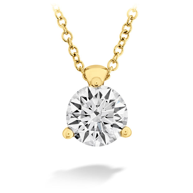 Hearts On Fire Classic 3 Prong Diamond Pendant Necklace