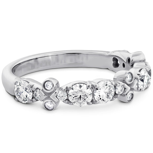 Hearts On Fire Double Teardrop Bezel Diamond Band