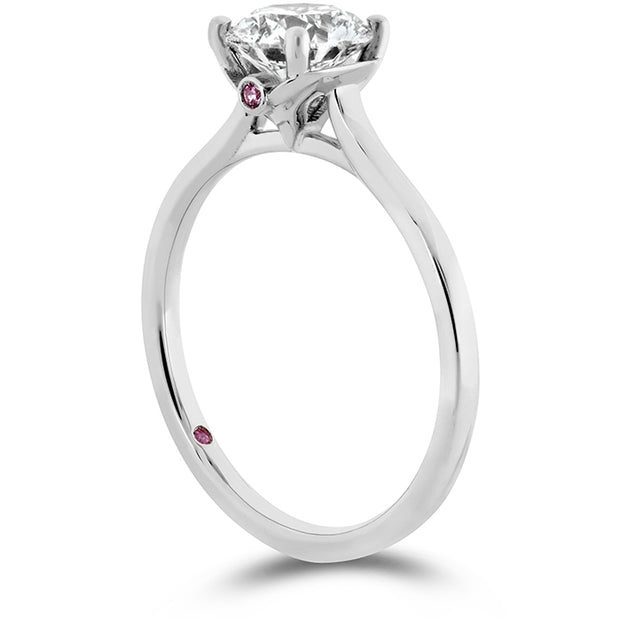 Hearts On Fire Sloane Silhouette Diamond Engagement Ring