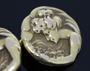 Art Nouveau Gold Cufflinks