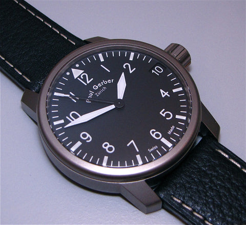 Paul Gerber Model 42 Pilot watch
