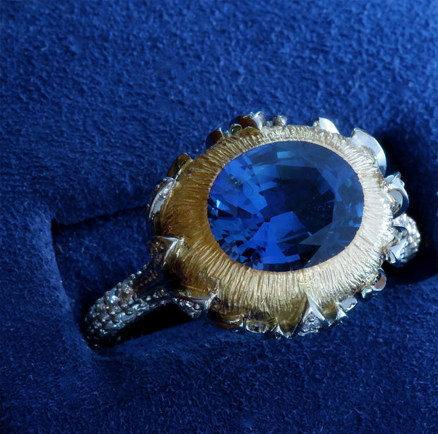 "Passion Collection ""Lotus"" Sapphire & diamond ring"