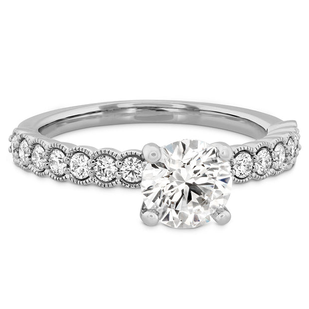 Hearts On Fire Isabelle Milgrain Diamond Engagement Ring